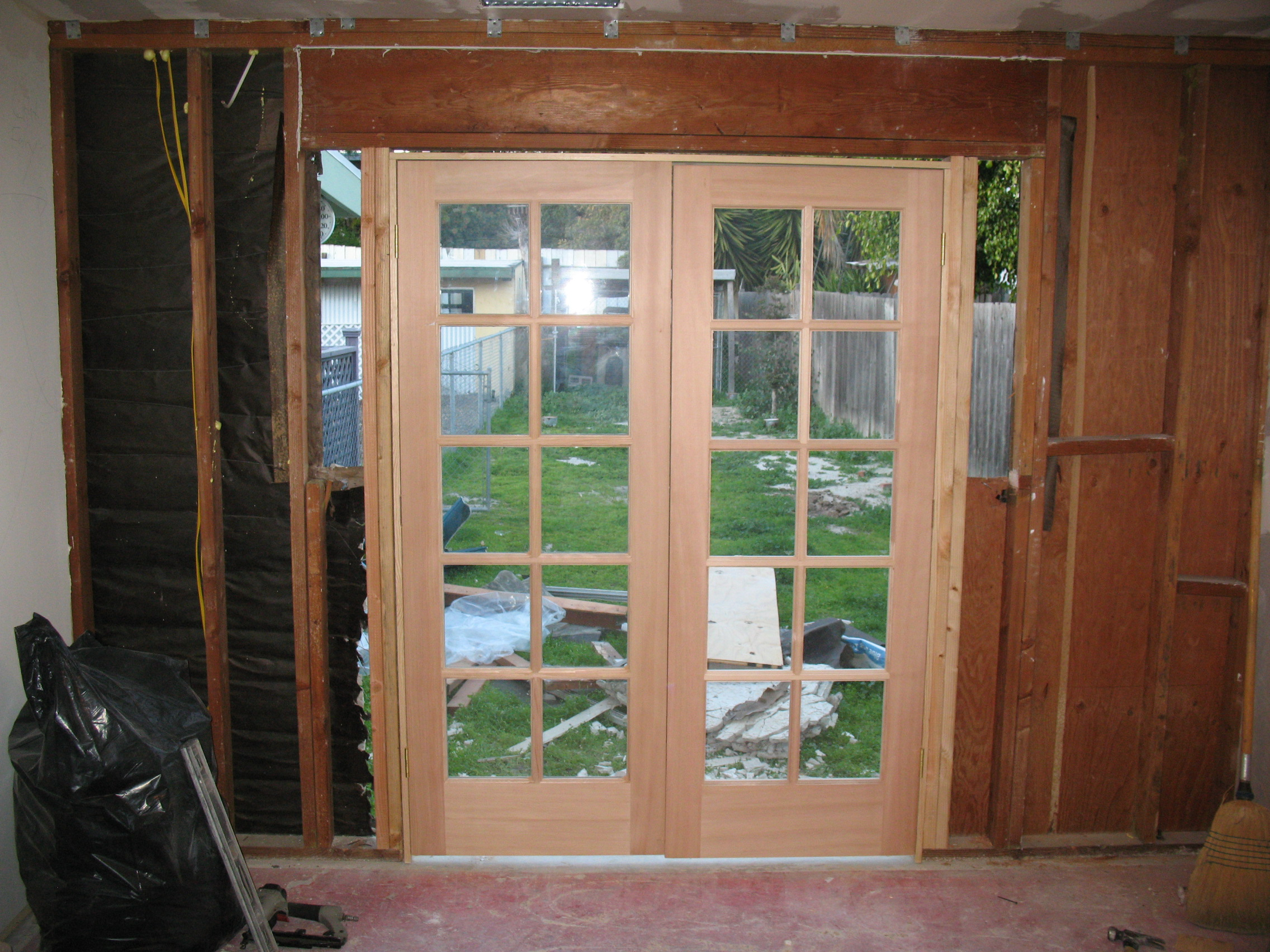 Install french door remodel pictures and articles for Installing french doors